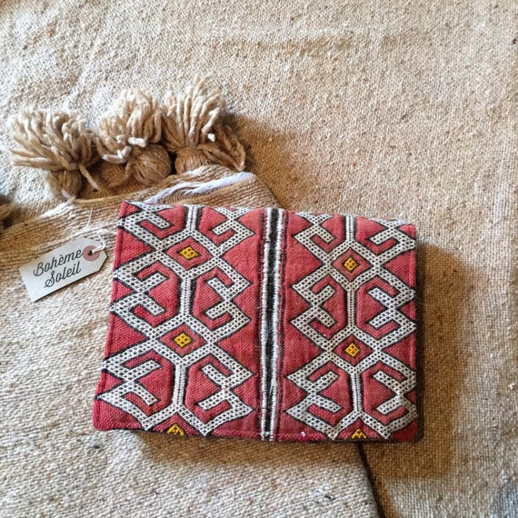 Handbag Vintage Moroccan Berber Kilim Carpet Bag With