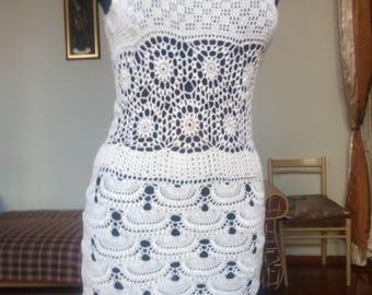 Wedding knitted dress