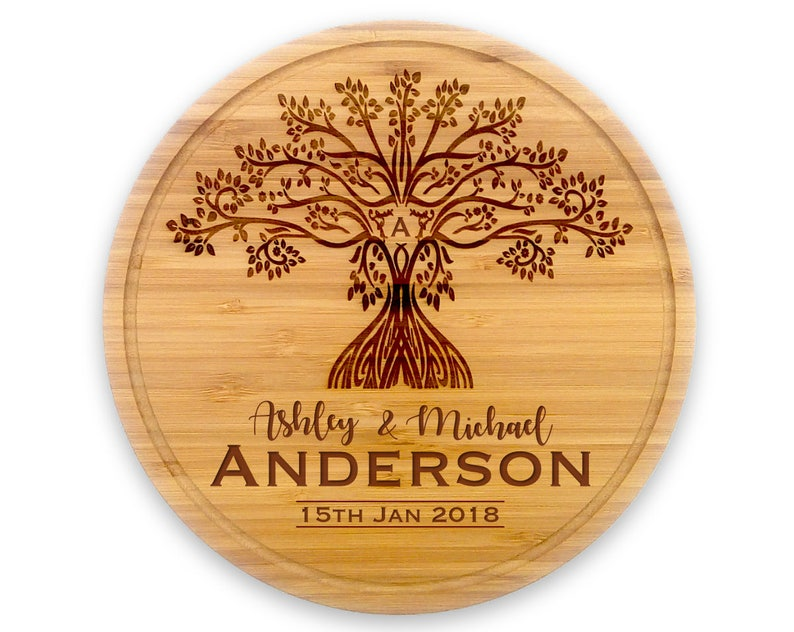 Personalised Wooden Chopping Board Wedding Gift for Newly image 0