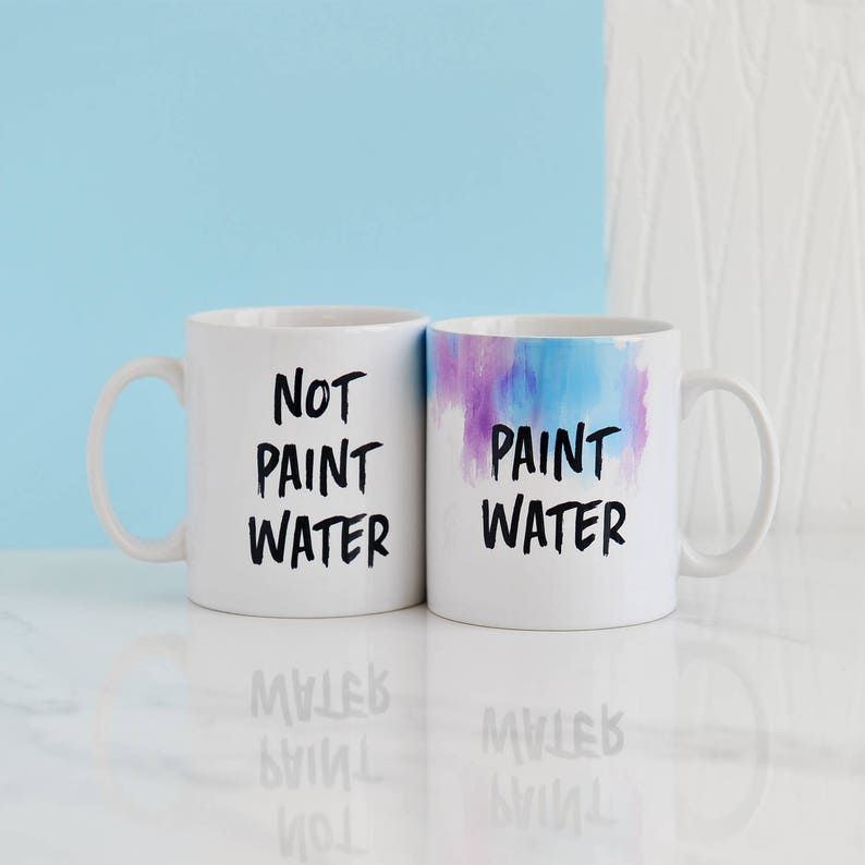 Unusual gifts for artists & tips for buying artists' gifts - paint water mug