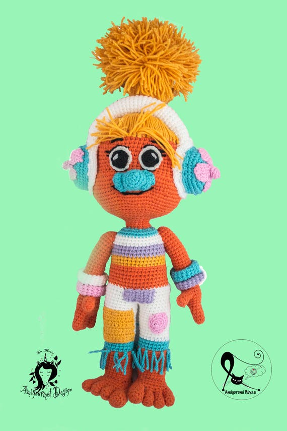 Easy Crochet 90's Style Troll Doll- Free Pattern - A Crafty Concept | 855x570