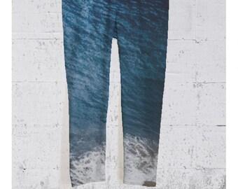 Yoga Capri Pants Ocean Blue