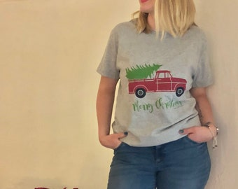 "Women's Christmas T-shirt ""Fresh Cut Tree"""