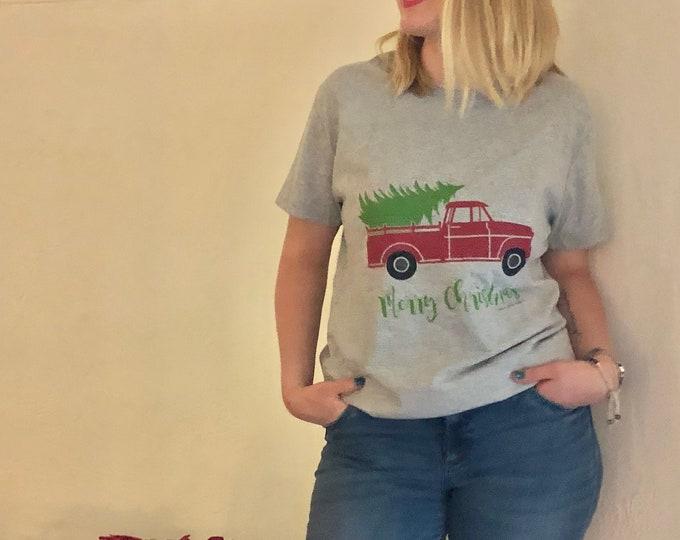"Women's Christmas T-shirt ""Fresh Cut Tree"""