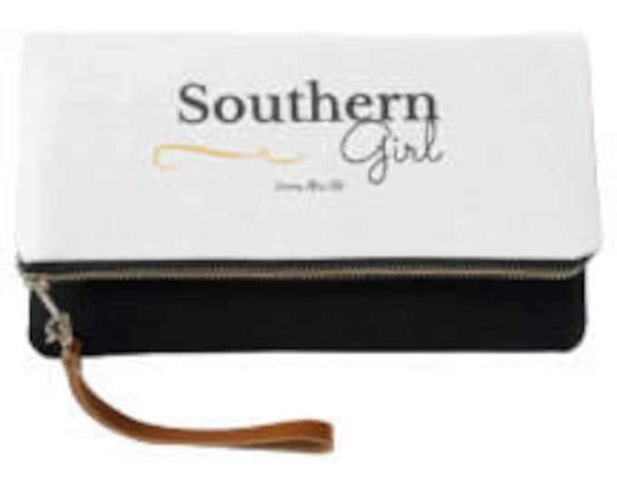Southern Girl Fold Over Clutch