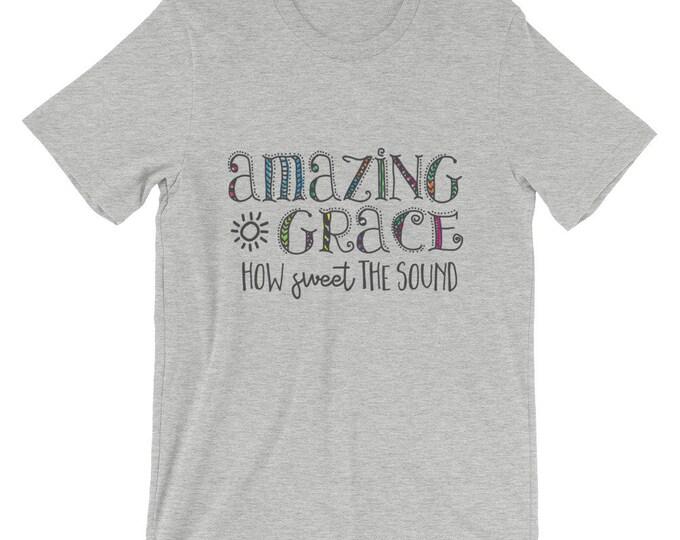 Bella Canvas Unisex Christian T-Shirt Faith Tee Amazing Grace