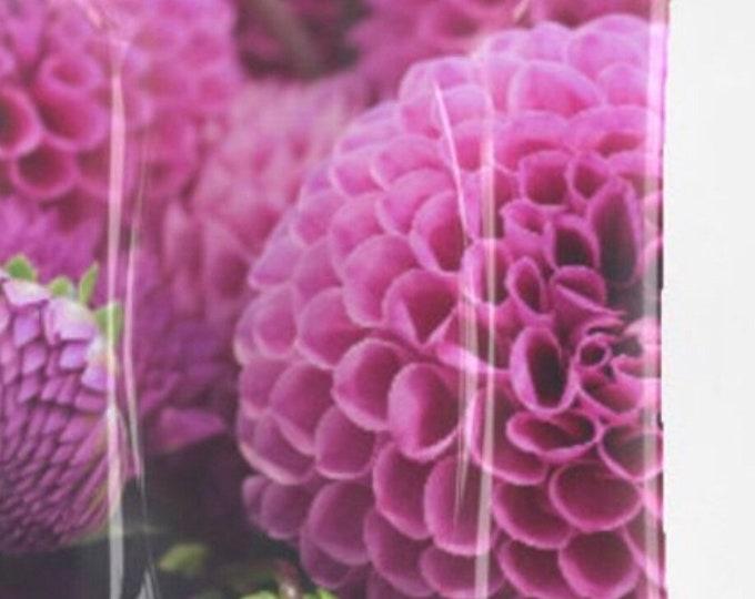 Purple Floral Decorative Glass Tray