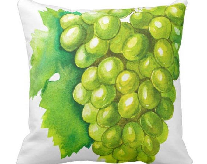 Watercolor Green Grapes Throw Pillow