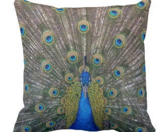 "Throw Pillow ""Peacock"""