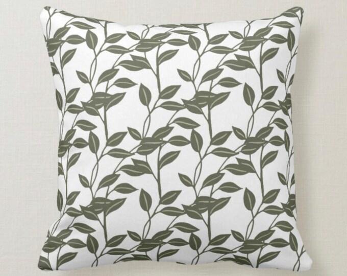 Dark Botanic Pattern, Nature Inspired, Throw Pillow