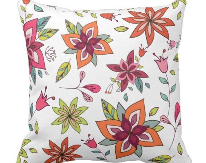 Classic Floral Boho Pillow
