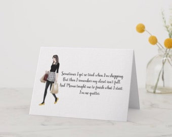 "Funny Greeting Card for Her ""Shopping"""