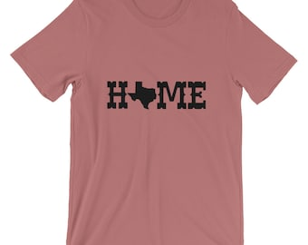 Bella Canvas Unisex Texas Proud Home T-shirt