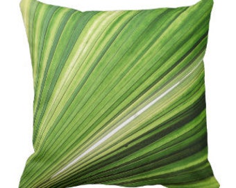 "Throw Pillow ""Tropical Palm"""