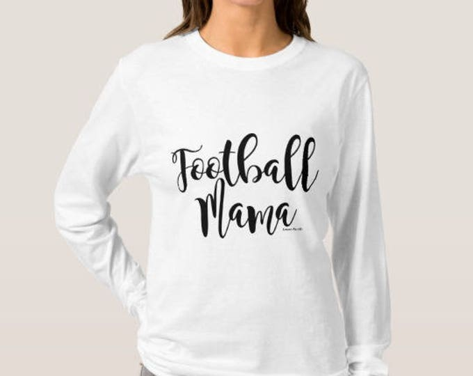Football Mama Long Sleeve Women's White T-shirt