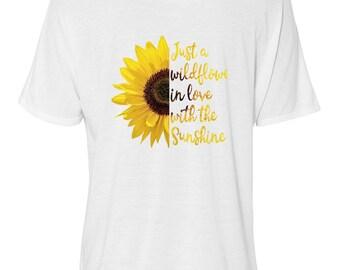 Sunflower, Bella Women's Flowy Slouchy Tee,