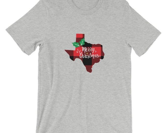Bella Canvas Unisex Texas Merry Christmas T-Shirt
