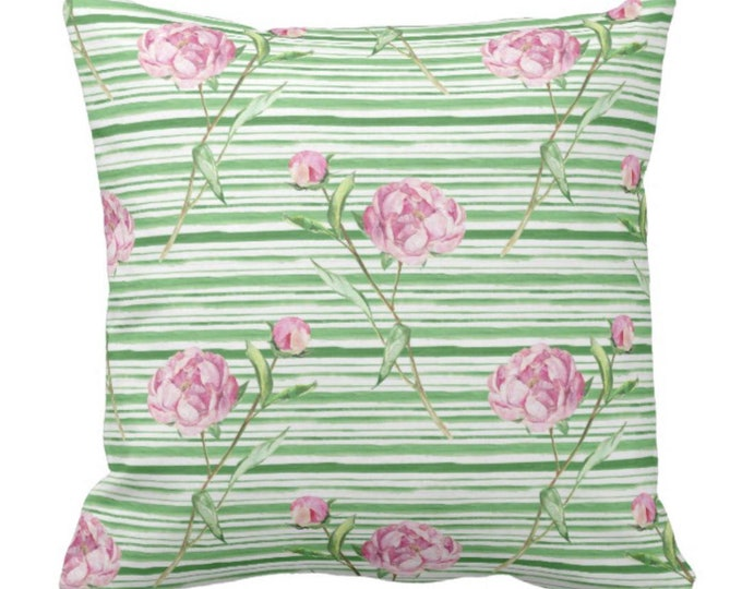 Vintage Pink Peonies Throw Pillow