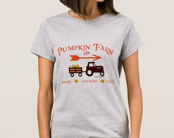 "Grey Women's T-shirt ""Pumpkin Farm"""