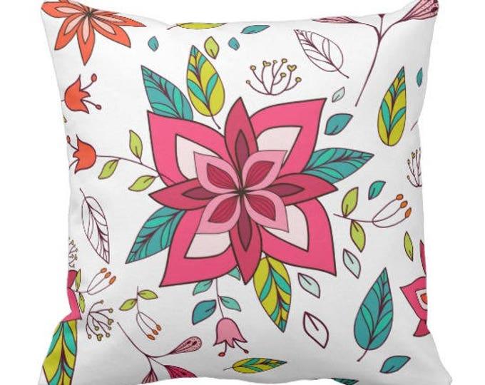 Boho Throw Pillow in Floral Theme