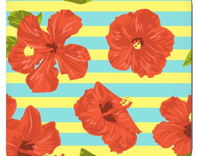 Hawaii Floral, Tropical Coasters, Set Of 4