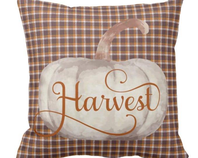 Throw Pillow Plaid Fall Decor Pumpkin Decor Harvest Farmhouse Style Decorative Pillow Thanksgiving