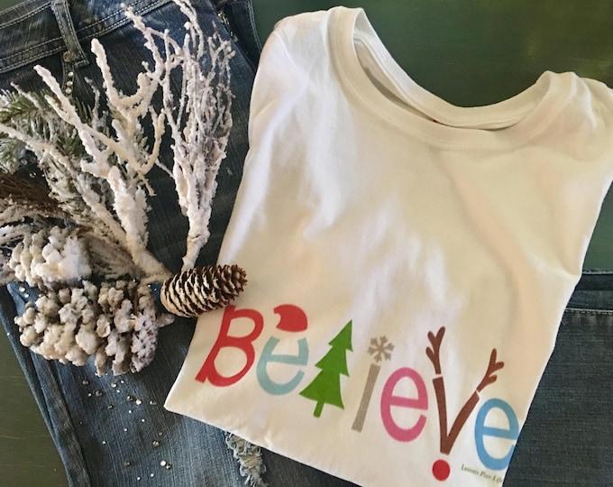 "Christmas T-shirt ""Believe"""