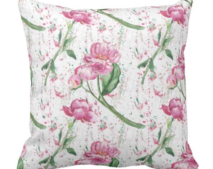Cottage Garden Pink Peony Throw Pillow