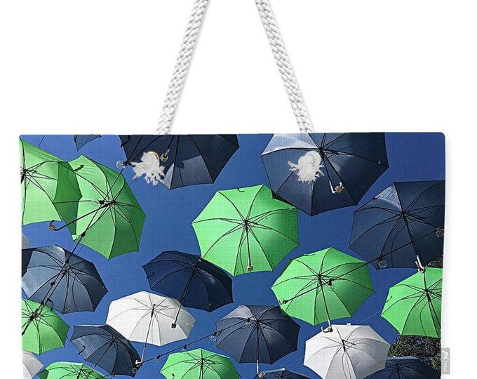 "Weekender Tote Bag ""Gone Umbrellas"""