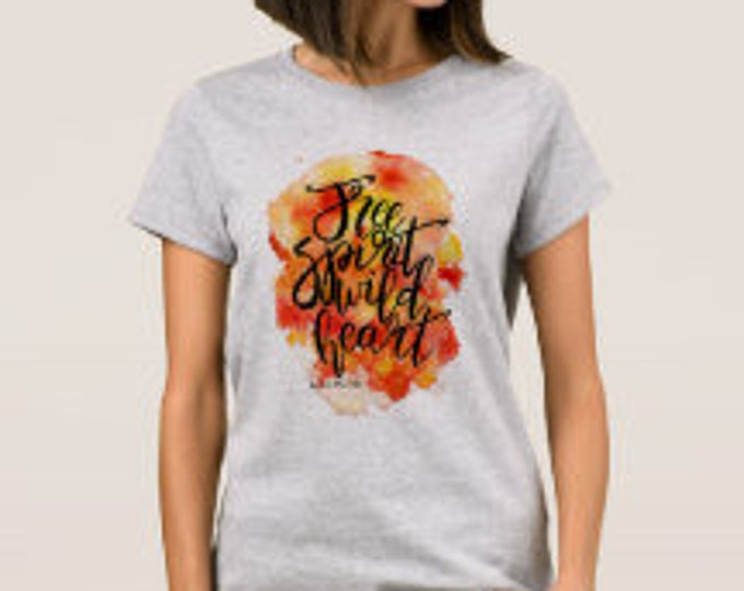 "Women's T-shirt ""Free Spirit Wild Heart"""