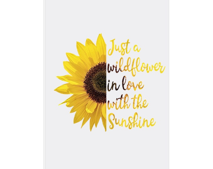 Sunflower, Easel Back Canvas, Wildflower In Love With Sunshine, 5 X 7