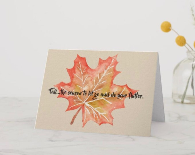 Greeting Card Fall Flutter