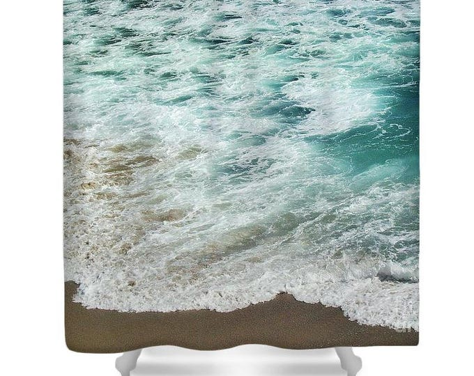 "Shower Curtain ""Ocean Meets Beach"""