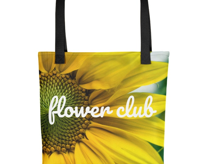 "Sunflower Tote Bag ""Flower Club"""