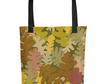 Tote Bag Dark Camo Print