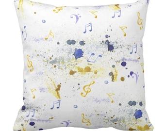 Musial Throw Pillow Watercolor Blue