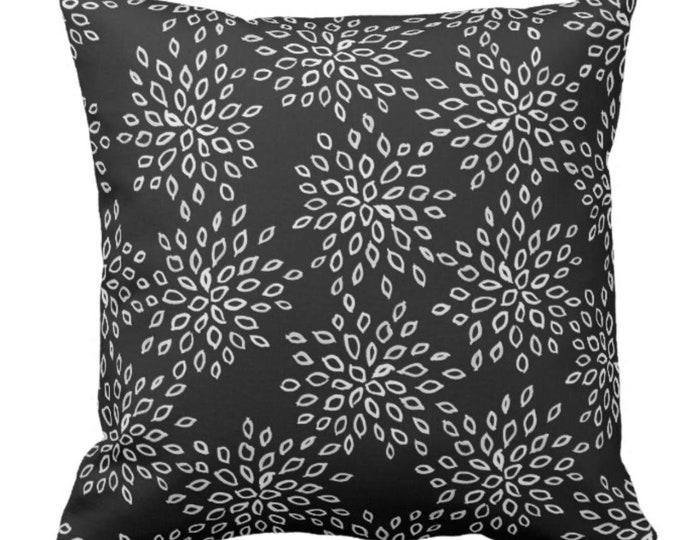 "Black & White Throw Pillow ""Flower Petal Power"""