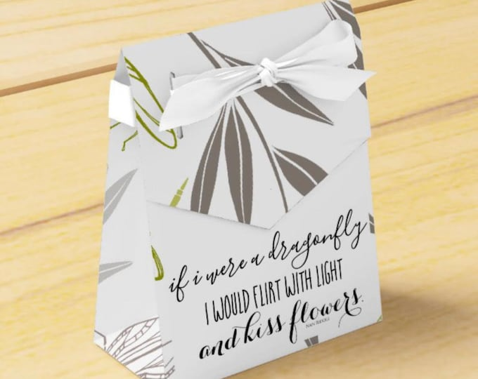 Party Favor Box, Dragonfly & Bamboo, If I Were a Dragonfly