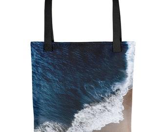 Tote Bag Blue Ocean Meets Beach