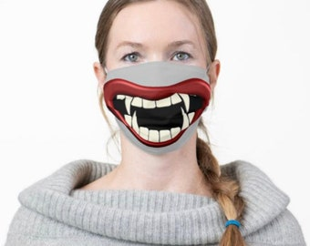 Face Mask, Scary Teeth, Big Mouth, Men and Women Funny Mask, Halloween Smile