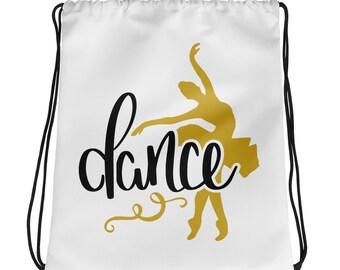 Drawstring Bag Backpack Dance Ballet Ballerina