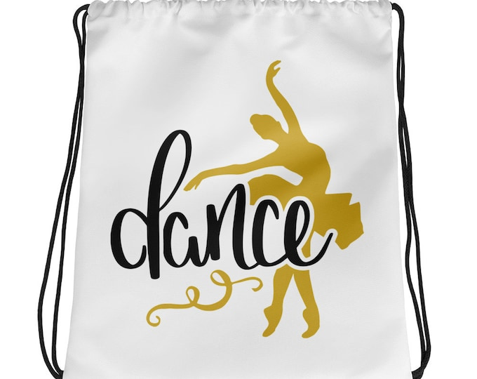 Drawstring Bag Backpack Dance Ballet Ballerina