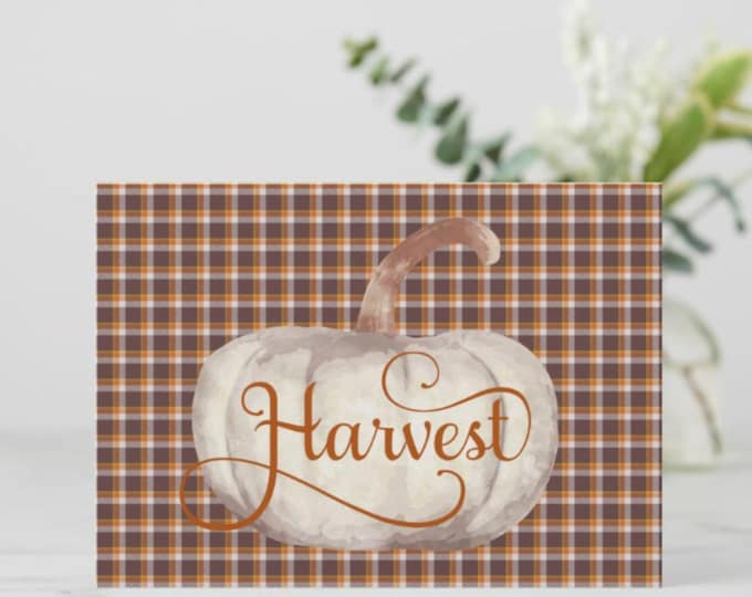 """Flat Greeting Card Ready to Frame """"Harvest"""""""