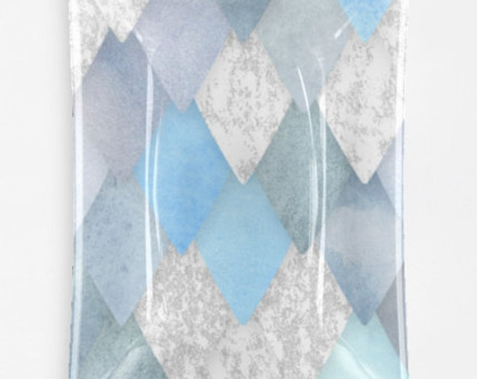 Blue Dragon Scale Decorative Glass Tray