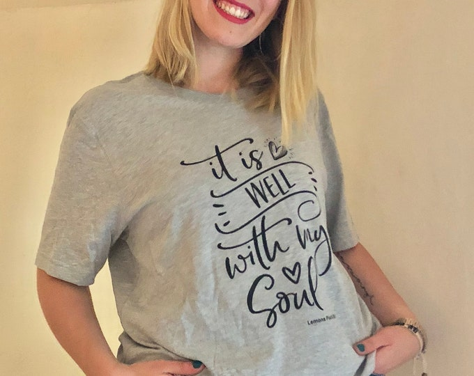 "Bella Canvas Short-Sleeve Faith Unisex T-Shirt ""It Is Well With My Soul"""