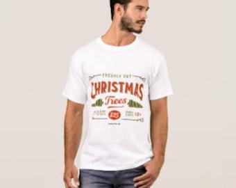 "Men's T-shirt ""Fresh Cut Christmas Trees"""