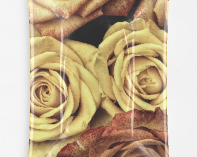 Rustic Roses Decorative Glass Tray
