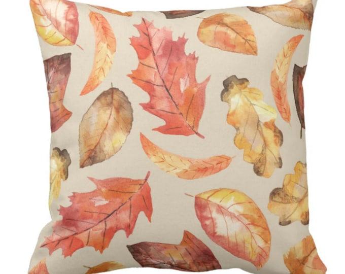 Throw Pillow Fall Decor Watercolor Fall Leaves Autumn Decor Decorative Pillows Halloween & Thanksgiving Home Decor Decorative Pillow