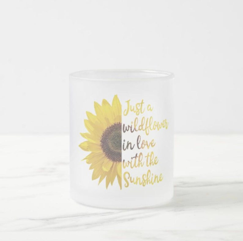 Mug Sunflower Wildflower in Love with Sunshine Frosted image 1