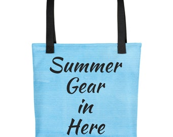 Summer Tote Bag With Words Summer Gear In Here